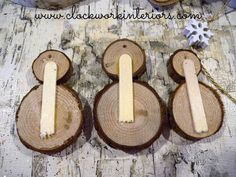 How to Make Wood Slice Snowmen ornaments                                                                                                                                                      More