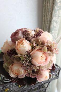 一花千 an Fleur mille 甘辛ピンクの大人ブーケ Deco Floral, Floral Design, Wedding Bouquets, Wedding Flowers, Happy Birthday Flower, Flower Artists, Botanical Gardens, Wedding Details, Planting Flowers