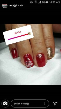 Christmas Nails, Messages, Xmas, Christmas Manicure, Xmas Nails