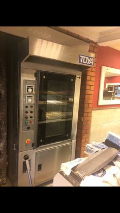 Kompact rotating shop oven for 40x60cm. Trays. Capacity 10 trays.