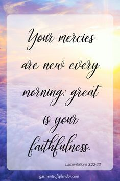 Prayer Journal:Meeting with God in the morning is a sacred experience. Praise God that his mercies are new every morning! Praise Songs, Praise And Worship, Praise God, Good Morning Quotes For Him, New Every Morning, Scripture Reading, Morning Scripture, Scripture Art, Morning Prayers
