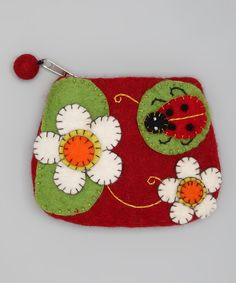 Take a look at this Red & Green Ladybug Felt Coin Purse on zulily today!