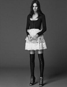 Amanda Wellsh, Karmen Pedaru, Andreea Diaconu, Hilary Rhoda, Ronja Furrer by Giampaolo Sgura for Vogue Germany January 2015