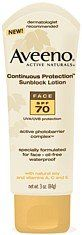 Aveeno Active Naturals Continuous Protection Sunblock Lotion Face SPF-70, 3-Ounce Tube. #beauty, #skincare, #suncare, #care