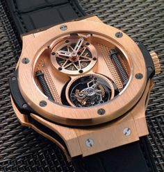 Hublot Big Bang Vendome Tourbillon... Messed up but I love it. Hubolt tends to break the rules and still keep looking good.