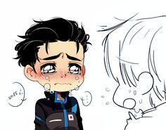 I think i just watched this episode, the one where Victor was trying to motivate Yuri but ended up making him explode and then THEY FRIGGIN KISSED!<<<<<<<<<< Viktor stop looking so surprised you know what you did to your precious Yuri Katsuki Yuri, Yuuri Katsuki, Hetalia, Manhwa, Manga Anime, Yuri On Ice Comic, Victor Nikiforov, ユーリ!!! On Ice, Fanart