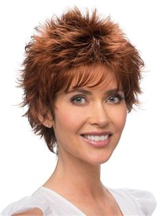 Rosa Wig by Estetica Designs: Razor cut styling and wispy layers will add some spice to your life. Go out and have some fun showing off this edgy style that's sure to leave a lasting impression!