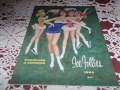 VINTAGE ICE FOLLIES SOUVENIR PROGRAM 1959 Shipstads Ballet Royale Schedule
