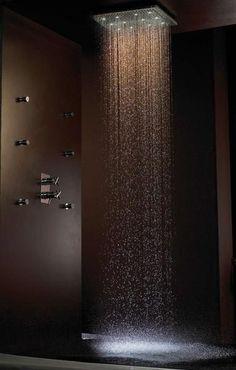 iluminação duche para água brilhar
