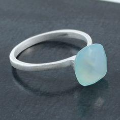 Buy handmade silver rings from Australia and overseas from our online shop. Use our ring sizing guide to help you and browse our unique jewellery. Silver Rings Handmade, Sterling Silver Rings, Silver Rings Online, Blue Chalcedony, Blue Rings, Silver Jewellery, Unique Jewelry, Band, Button