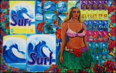 Surf Collage Art, Surfing, Surf, Surfs Up, Surfs