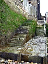 Also relevant to today's writing: Wapping old stairs leading down to the River Thames.