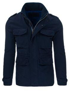 Pánská jarní bunda - Giovanni, modrá Raincoat, Leather Jacket, Jackets, Clothes, Fashion, Men's, Rain Jacket, Studded Leather Jacket, Down Jackets