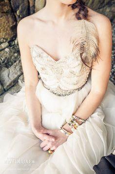 WedLuxe Magazine   Lazaro dress