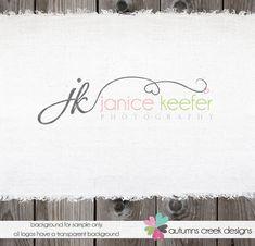 Custom Premade Photography Logo - Heart Swirls and Initials Logo and Watermark Design Name Text Logo. $40.00, via Etsy.