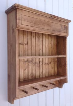 wooden wall shelf spice & mug rack for kitchen by OriginalCrate