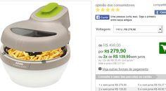 Fritadeira Elétrica Arno Actifry Essential SFRY Prepara até 1kg de alimento com apenas uma colher de óleo << R$ 27990 >>