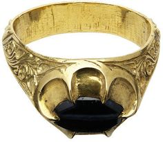 Ring  Place of origin: Canterbury, United Kingdom (said to have been, worn)  Date: ca. 1362-1374 (made)  Artist/Maker: unknown (production)  Materials and Techniques: Gold, chased, engraved; sapphire, drilled