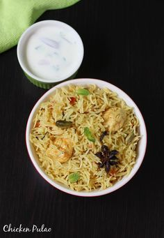 garnishing chicken pulao