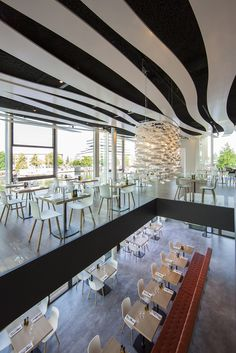 Michael van Oosten Interior and Architecture photographer: Riva Restaurant Amsterdam (Architect Cees Dam)