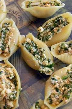 Shells with Crispy Pancetta and Spinach