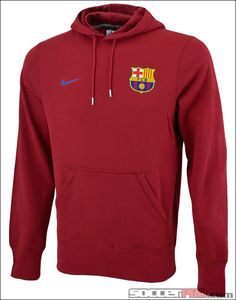 Nike Barcelona Core Hoodie - Storm Red with Storm Blue...$49.99