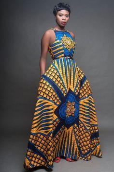 New Summer Cloths for South Africa Woman's Latest African Fashion Dresses, African Dresses For Women, African Print Dresses, African Print Fashion, Africa Fashion, African Attire, African Wear, Fashion Prints, Ankara Fashion