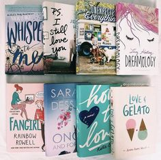 Follow me Instagram: @opalsbookjems #books #contemporaries #pastelbooks #whipsertome #psistillloveyou #theunexpectedeverything #dreamology #fangirl #onceandforall #howtolove #loveandgelato