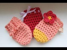 Háčkované rukavičky pre bábätká - 3 varianty - ako uháčkovať - YouTube