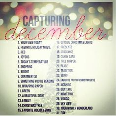 december photo challenge | Like poetry except visual. Will be having the kids do this in a couple of years!