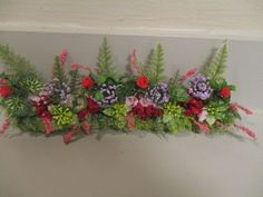 """Miniature doll/dollhouse 8 1/2""""w x3""""h fence liner/assorted floral/colorful  VICTORIAN LACE DOLLHOUSE DESIGNS"""