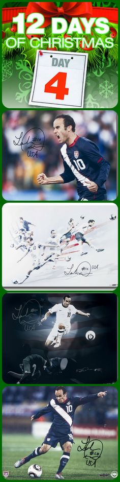 Landon Donovan signed memorabilia on sale now for #Day4 of Upper Deck's #12DaysofXmas upperdeckstore.com./12-days-christmas  #landon #mls #soccer #lagalaxy #USMNT #holiday #gifts #deals #giftsforhim #sportgifts #autographed #memorabilia