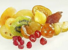 How to Make Candied Fruit Recipe: Perfect option for those of you with a corn syrup allergy or for those who like to avoid corn syrup! - Candy - Ideas of Candy Candy Recipes, Dessert Recipes, Fruit Confit, Glace Fruit, Candied Fruit, Candied Pineapple, Candy Dispenser, Dehydrated Food, Dehydrator Recipes
