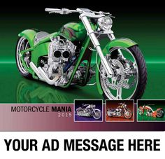 2015 Promotional Wall Calendars - Motorcycle Mania  Custom Bikes, Choppers, Custom Cycle Calendar - Cover  Imprinted with your Business, Organization or Event Name, Logo and Message as low as 65¢  Visit http://www.promocalendarsdirect.com/calendars/motorcycle-mania today and start your Promotional Calendar Advertising Campaign