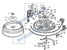 Johnson Magneto Group Parts for 1967 Outboard Motor Boat Engine, Aftermarket Parts, Outboard Motors, Boating, Fishing, Group, Projects, Motors, Log Projects