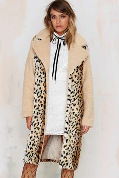 Spot Twist Shearling Coat | Shop Clothes at Nasty Gal!