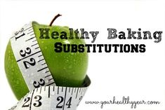 You can cut down on calories and fat by making a few Healthy Baking Substitutions. Here are a list of some common things you can swap.