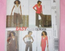 McCall's 5434 sewing pattern 6 8 10 12 14 Easy Endless Options dress tops skirt pants in two lengths uncut factory folded