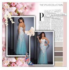"""""""belle robe de soirée colorée"""" by sophie-robelle ❤ liked on Polyvore featuring Ciel"""