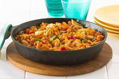 Dos favoritos, el pollo y el toque italiano, se unen en este platillo que requiere poco trabajo y una sola sartén.