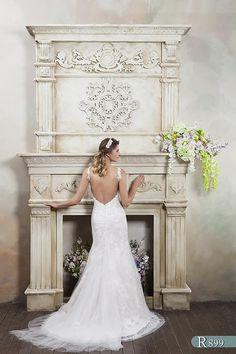 Nicola Anne Bridal Corded Lace Silk English Made Wedding Dress