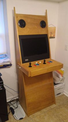 Have you wanted your own arcade machine, but never thought you had the time, skills, tools or money to make a stylish cabinet? Here is the solution! Retropie Arcade, Arcade Parts, Arcade Table, Arcade Console, Arcade Room, Arcade Stick, Arcade Cabinet Plans, Motivation Wall, Cycling Motivation