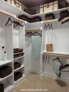 Custom Closet shelf idea I think this is what we need in the master