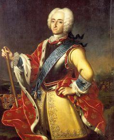 Johann Salomon du Wahl (1689-1765) — King  Frederik IV   of Denmark : Rosenborg Castle, Copenhagen. Denmark   (1999x2454)