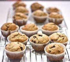 whole wheat peanut butter banana chocolate chip muffins. made them tonight. YUM! -melissa