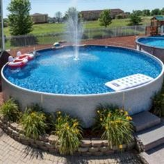 Above Ground Pool With Stock Tack