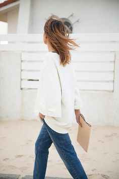 cream & denim