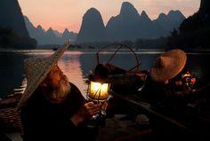 Cormorant Fishermen - Guilin, Guangxi, China (by Dan Ballard)