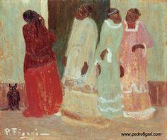 "Pedro Figari (Montevideo, 1861 - Montevideo, 1938) "" Custión de razas"" ?, Huile sur carton, H. 33 cm ; L. 40 cm © pedrofigari.com"