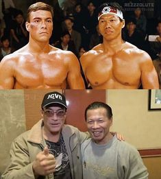 Bolo Yeung y Jean Claude Van Damme Bloodsport. Old Celebrities, Celebrities Then And Now, Celebs, Claude Van Damme, Photo Vintage, Actrices Hollywood, Sylvester Stallone, Arnold Schwarzenegger, Hollywood Actor
